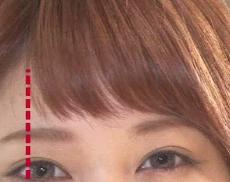 林先生が驚く初耳学 小顔に見える髪の分け目の法則 9月11日 黒目の外側の延長線がポイント!